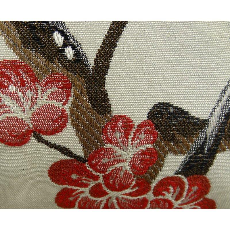 "Plutus Brands Cherry Blossom White Red Gray Handmade Luxury Pillow Double Sided 20"" x 20"" (PBRAZ400-2020-DP)"