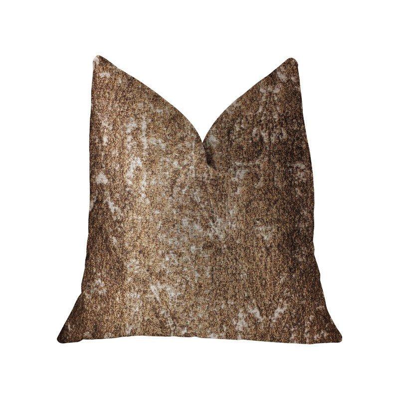 "Plutus Brands Chestnut Crush Brown Luxury Throw Pillow 20"" x 30"" Queen (PBRA2321-2030-DP)"