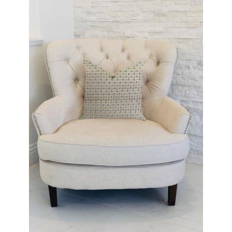 "Plutus Brands Circular Ringed Luxury Throw Pillow 20"" x 30"" Queen (PBRA1346-2030-DP)"