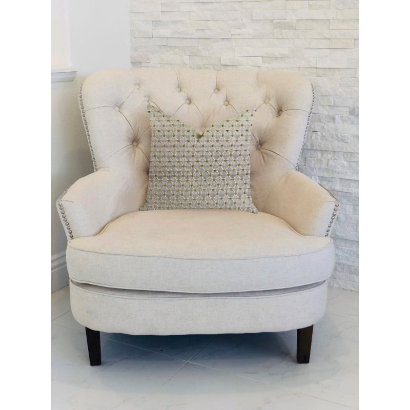 """Plutus Brands Circular Ringed Luxury Throw Pillow 20"""" x 36"""" King (PBRA1346-2036-DP)"""