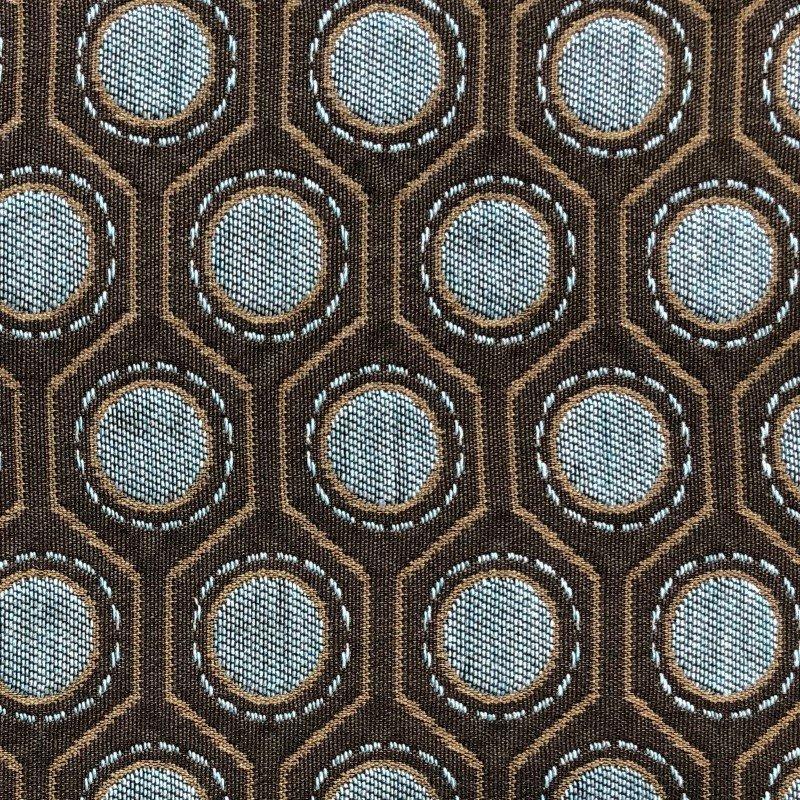 "Plutus Brands Clubhouse Orbit Brown Beige and Blue Luxury Throw Pillow 20"" x 26"" Standard (PBKR1929-2026-DP)"