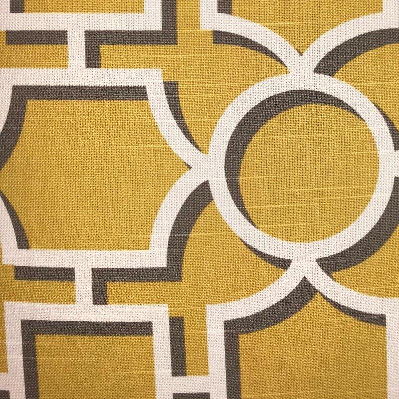 "Plutus Brands Crane Enclave Yellow Beige and Gray Luxury Throw Pillow 18"" x 18"" (PBRA2270-1818-DP)"