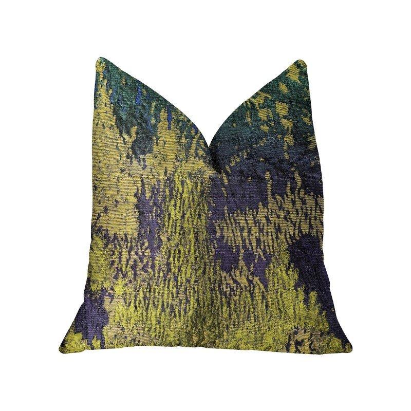 "Plutus Brands Crimson Cheetah Black and Brown Luxury Throw Pillow 26"" x 26"" (PBRA2330-2626-DP)"