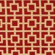 """Plutus Brands Crimson Square Red and Beige Luxury Throw Pillow 20"""" x 36"""" King (PBKR1963-2036-DP)"""