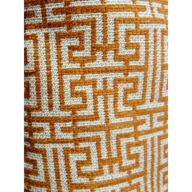 "Plutus Brands Crossroad Orange and Ivory Handmade Luxury Pillow 20"" x 36"" King (PBRAZ040-2036-DP)"