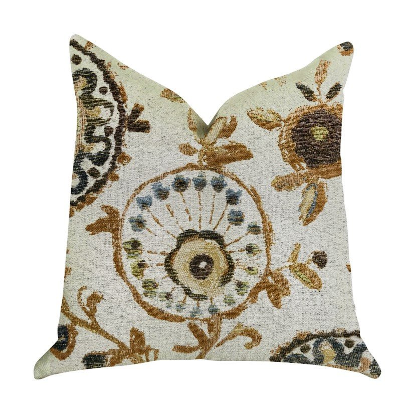 "Plutus Brands Daliani Floral Luxury Throw Pillow 16"" x 16"" (PBRA1327-1616-DP)"