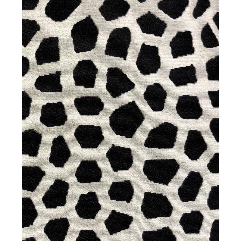 "Plutus Brands Dark Jewels Luxury Throw Pillow in Black and White Pillows 18"" x 18"" (PBRA1374-1818-DP)"
