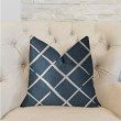 "Plutus Brands DaVinci Blue and White Luxury Throw Pillow 20"" x 20"" (PBRA2232-2020-DP)"