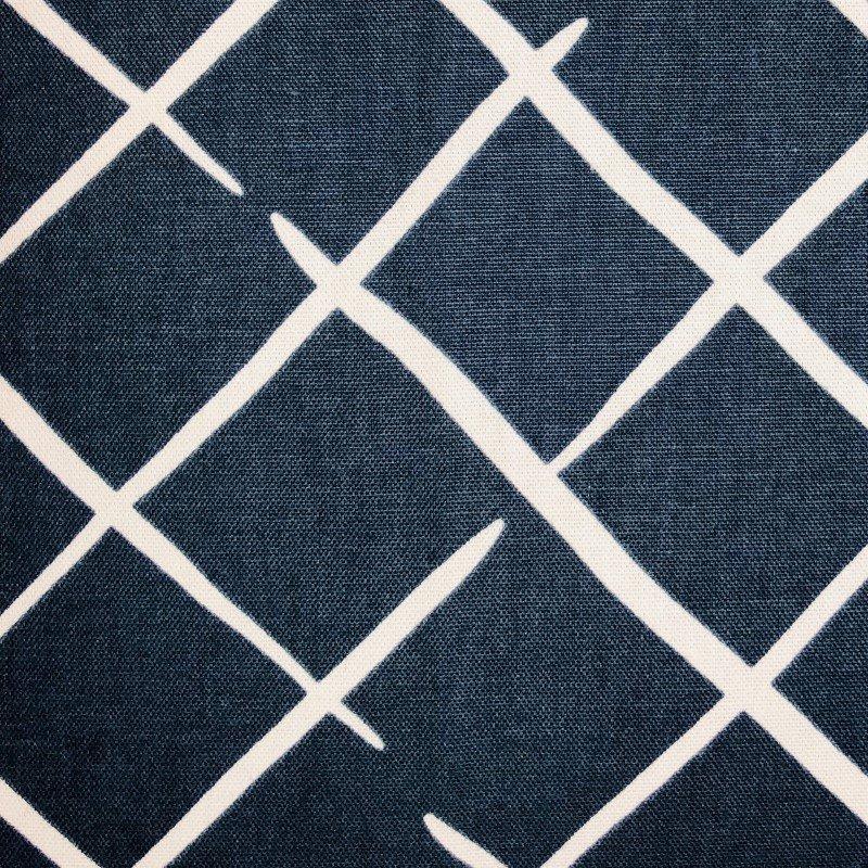 "Plutus Brands DaVinci Blue and White Luxury Throw Pillow 20"" x 36"" King (PBRA2232-2036-DP)"