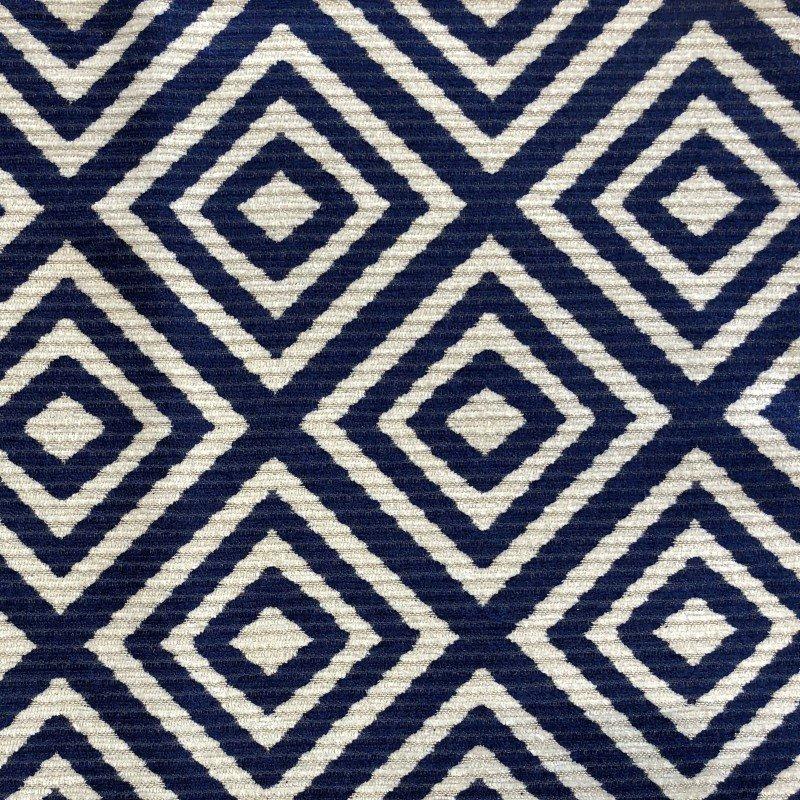 "Plutus Brands Daydream Blue and Beige Luxury Throw Pillow 18"" x 18"" (PBKR1995-1818-DP)"