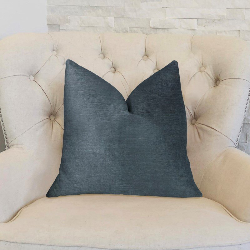 "Plutus Brands Deep Blue Sea Luxury Throw Pillow 18"" x 18"" (PBKR1903-1818-DP)"