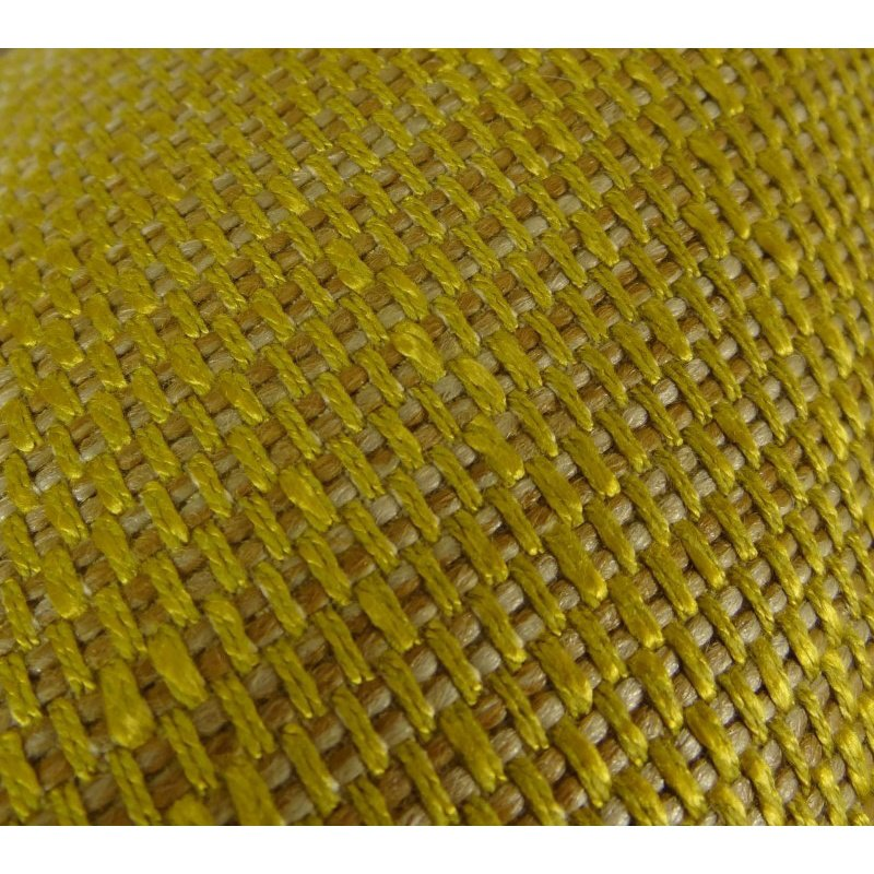 "Plutus Brands Deep Lemon Grass Metallic Citrine and Gold Handmade Luxury Pillow 18"" x 18"" (PBRAZ245-1818-DP)"