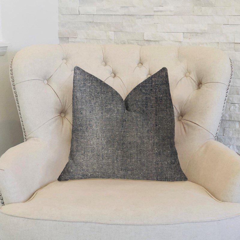 "Plutus Brands Deep Mantra Charcoal Luxury Throw Pillow 20"" x 20"" (PBKR1979-2020-DP)"