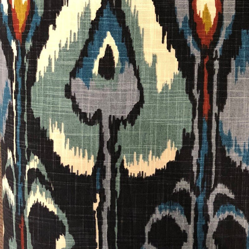 "Plutus Brands Deep Sanctuary Blue and Gray Luxury Throw Pillow 22"" x 22"" (PBRA2241-2222-DP)"