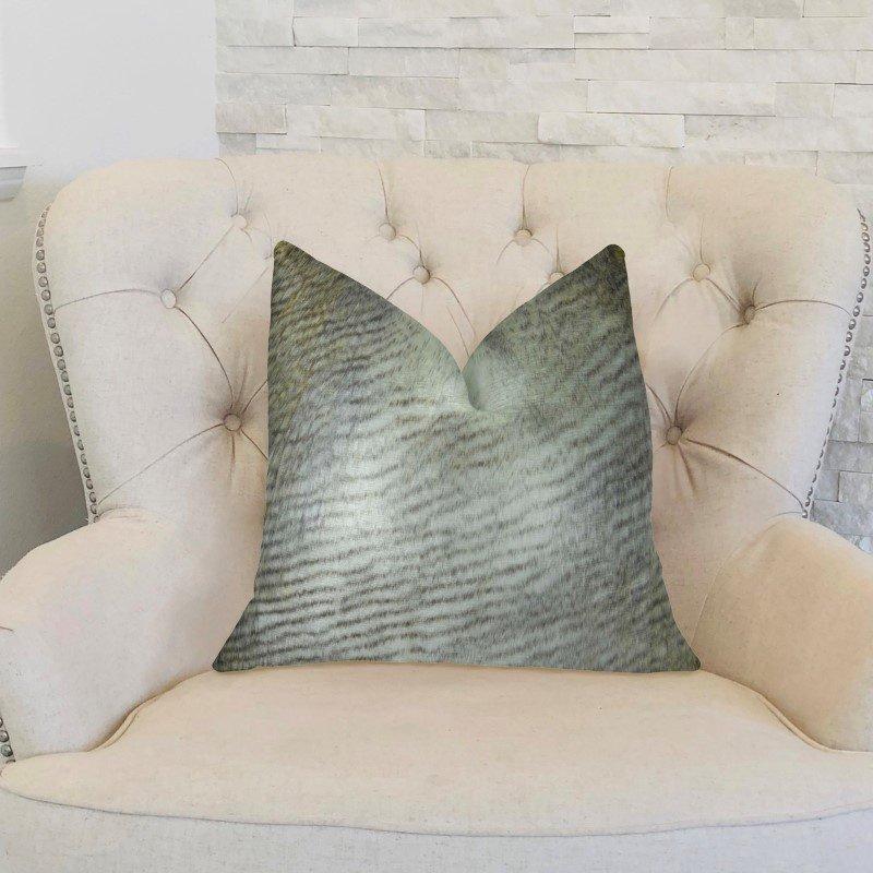 "Plutus Brands Delicate Alaskan Hawk White Gray Beige Handmade Luxury Pillow 20"" x 36"" King (PBRAZ458-2036-DP)"