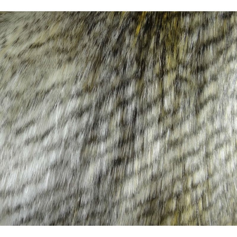 "Plutus Brands Delicate Alaskan Hawk White Gray Beige Handmade Luxury Pillow Double Sided 16"" x 16"" (PBRAZ458-1616-DP)"