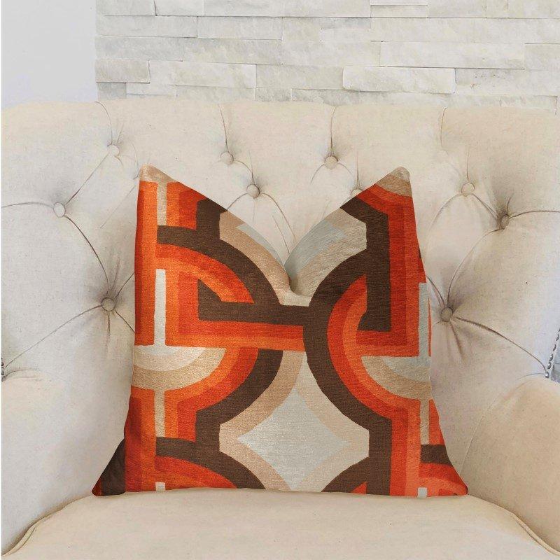 "Plutus Brands Delightful Chain Multicolor Luxury Throw Pillow 24"" x 24"" (PBRA2258-2424-DP)"