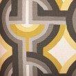 "Plutus Brands Delightful Chain Yellow Beige and Gray Luxury Throw Pillow 20"" x 20"" (PBRA2269-2020-DP)"