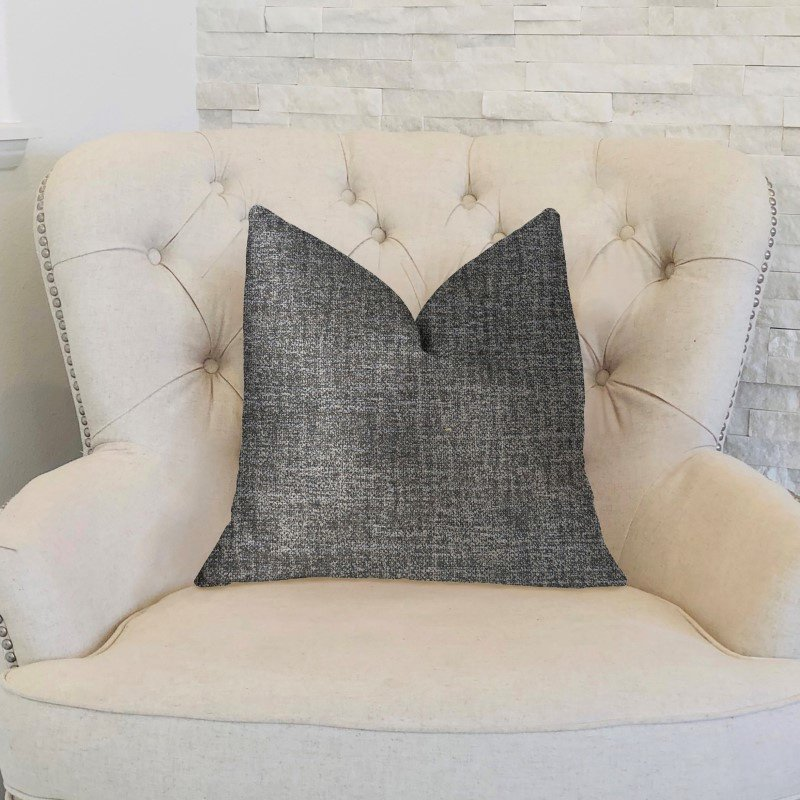 "Plutus Brands Dolphin Gray Luxury Throw Pillow 12"" x 20"" (PBKR1934-1220-DP)"