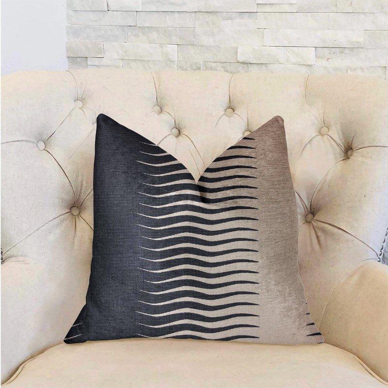 "Plutus Brands Dreamland Blue and White Luxury Throw Pillow 12"" x 20"" (PBRA2266-1220-DP)"