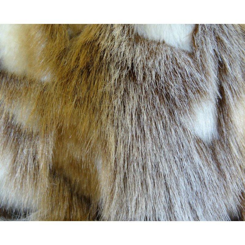 """Plutus Brands Elegant Brandy Fox Light Brown Gold White Handmade Luxury Pillow Double Sided 18"""" x 18"""" (PBRAZ403-1818-DP)"""
