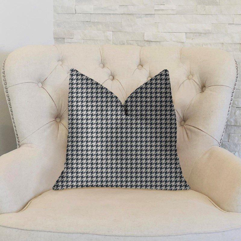 "Plutus Brands Element Black and White Luxury Throw Pillow 16"" x 16"" (PBKR1984-1616-DP)"