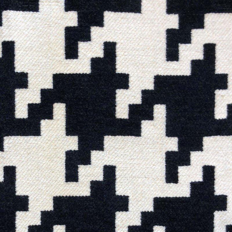 "Plutus Brands Element Black and White Luxury Throw Pillow 26"" x 26"" (PBKR1984-2626-DP)"