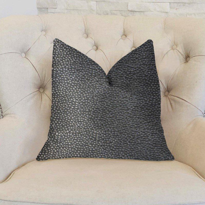 "Plutus Brands Eloquent Haze Silver Luxury Throw Pillow 18"" x 18"" (PBKR1991-1818-DP)"
