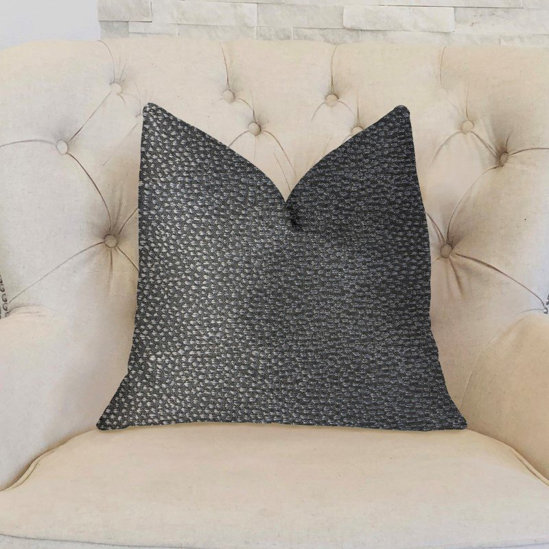 "Plutus Brands Eloquent Haze Silver Luxury Throw Pillow 26"" x 26"" (PBKR1991-2626-DP)"