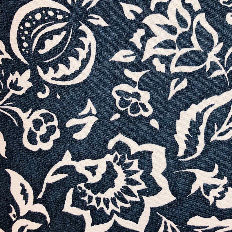 "Plutus Brands Elsi Pom Blue and White Luxury Throw Pillow 12"" x 20"" (PBRA2234-1220-DP)"