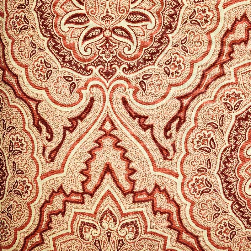 "Plutus Brands Enchanted Prairie Red and Beige Luxury Throw Pillow 24"" x 24"" (PBRA2281-2424-DP)"