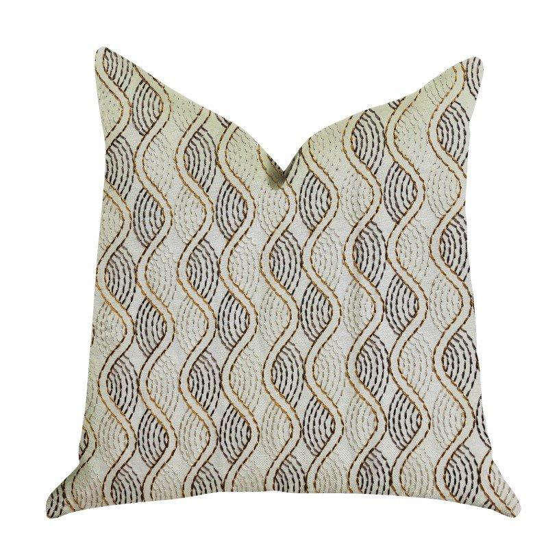 """Plutus Brands Enigma Twist Luxury Throw Pillow 20"""" x 30"""" Queen (PBRA1356-2030-DP)"""