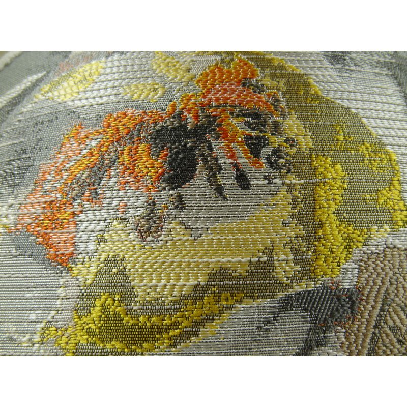 "Plutus Brands Fairy Garden Gray Yellow and Coral Handmade Luxury Pillow 20"" x 26"" Standard (PBRAZ382-2026-DP)"