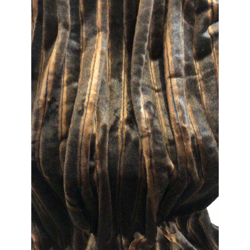 "Plutus Brands Fancy Brown Mink Handmade Luxury Throw Blanket 102""L x 116""W California King (PBSF1424-102x116)"