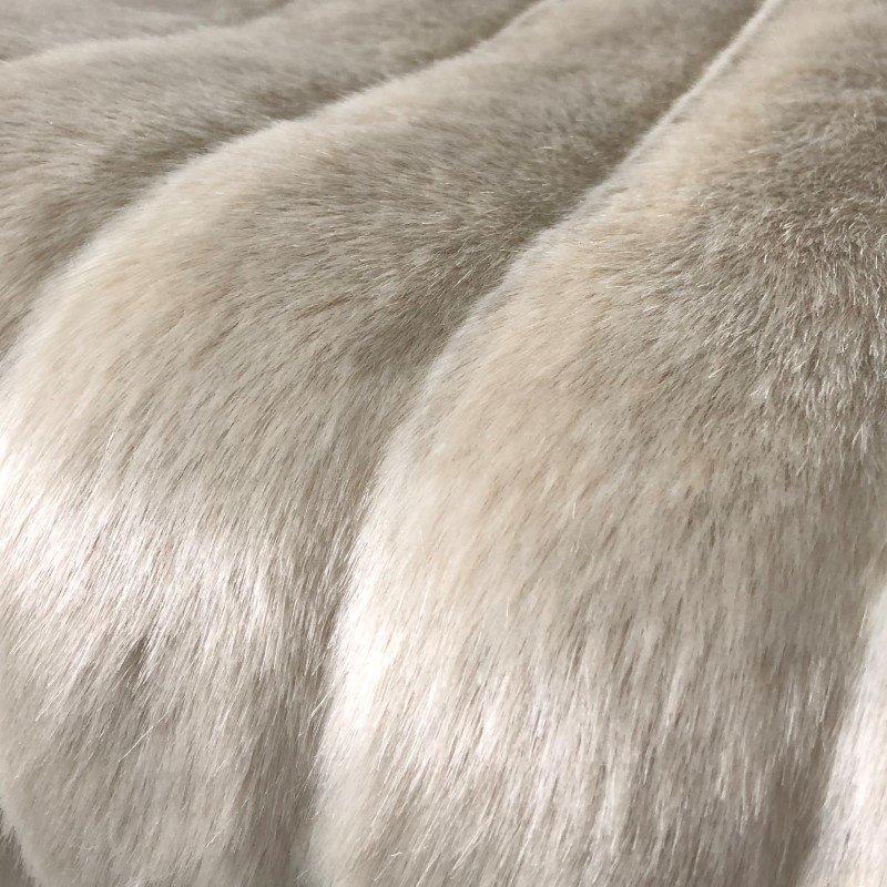 """Plutus Brands Fancy Mink Faux Fur Ivory Luxury Throw Blanket 108""""L x 90""""W Full - Queen (PBSF1420-108x90T)"""