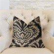 "Plutus Brands Floral Fantasy Black and Beige Luxury Throw Pillow 12"" x 20"" (PBRA2268-1220-DP)"