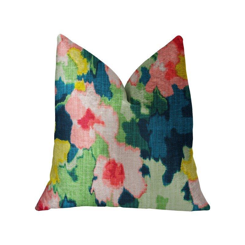 "Plutus Brands Floral Goddess Multicolor Luxury Throw Pillow 16"" x 16"" (PBRA2228-1616-DP)"