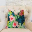 "Plutus Brands Floral Goddess Multicolor Luxury Throw Pillow 18"" x 18"" (PBRA2228-1818-DP)"