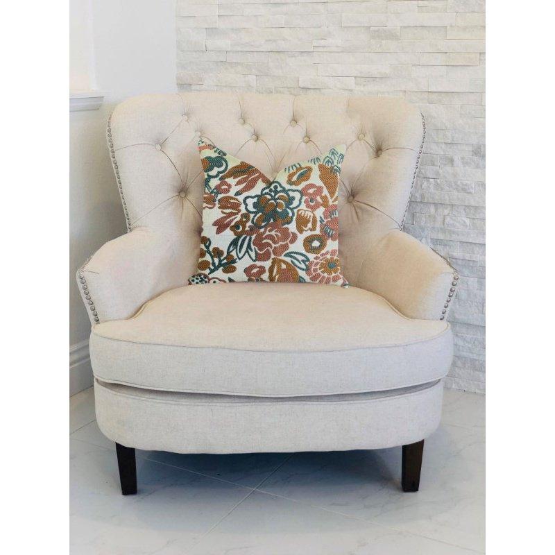"Plutus Brands Floweret Luxury Throw Pillow 20"" x 30"" Queen (PBRA1320-2030-DP)"