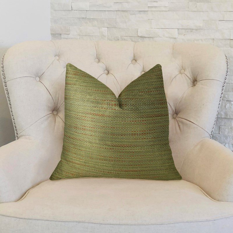 """Plutus Brands Forest Meadow Taupe Handmade Luxury Pillow 20"""" x 20"""" (PBRAZ191-2020-DP)"""
