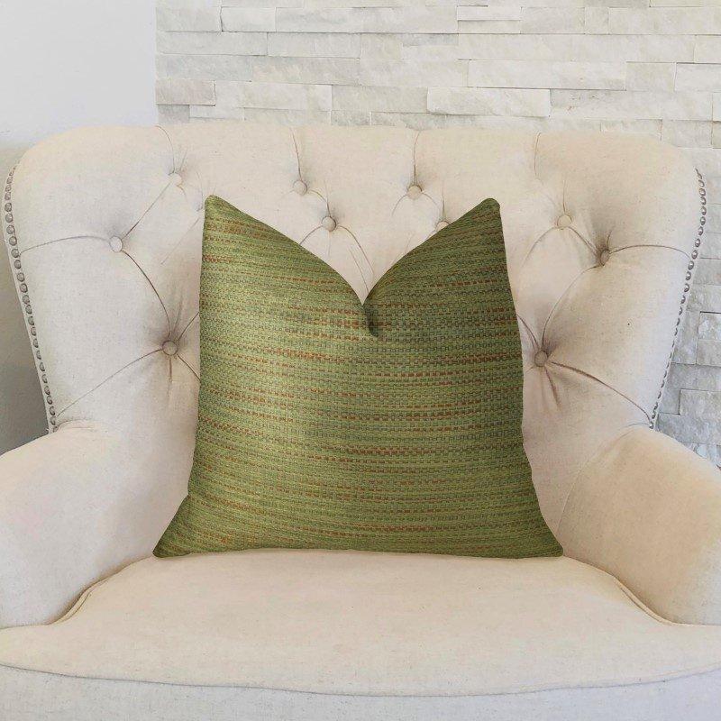 "Plutus Brands Forest Meadow Taupe Handmade Luxury Pillow 20"" x 26"" Standard (PBRAZ191-2026-DP)"