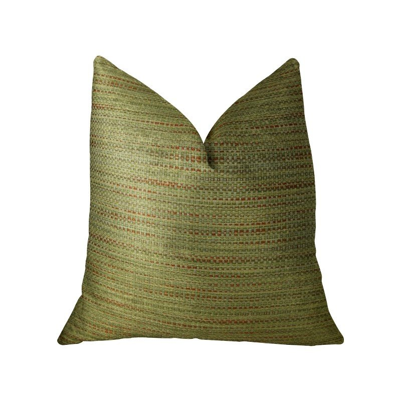 """Plutus Brands Forest Meadow Taupe Handmade Luxury Pillow 26"""" x 26"""" (PBRAZ191-2626-DP)"""