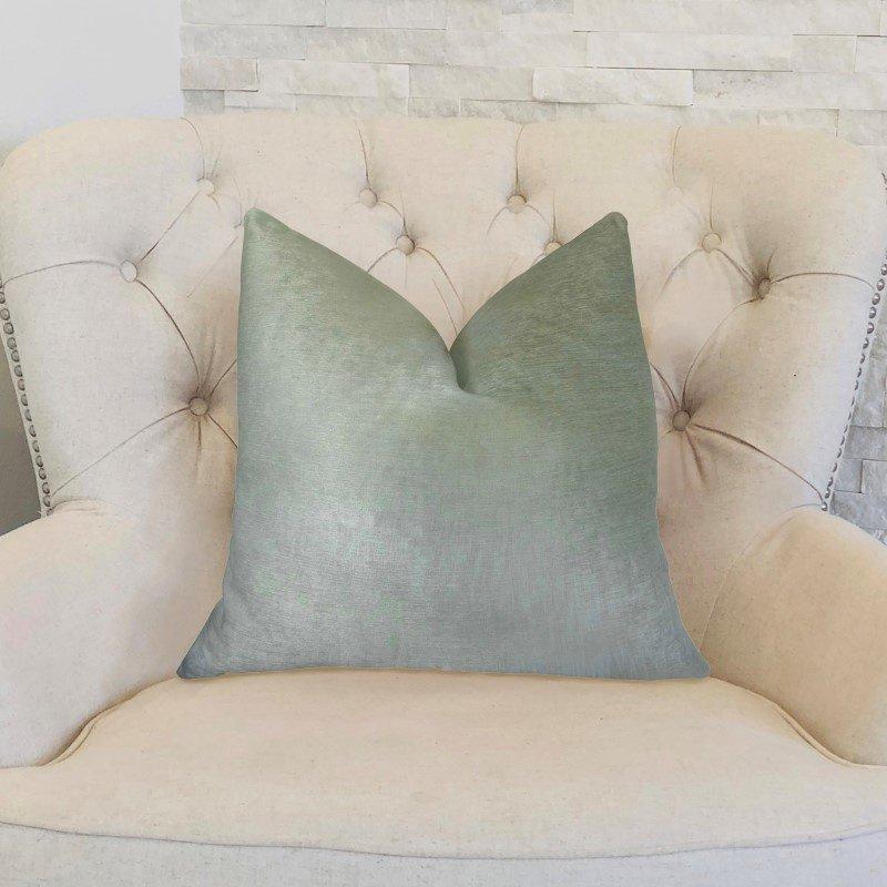 "Plutus Brands Foxy Arctic Fox White Ivory Handmade Luxury Pillow 20"" x 36"" King (PBRAZ464-2036-DP)"
