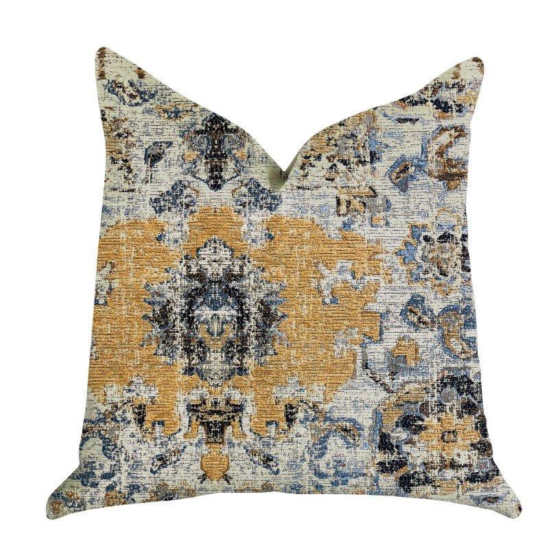"""Plutus Brands Free Spirit Damasque Luxury Throw Pillow 16"""" x 16"""" (PBRA1325-1616-DP)"""