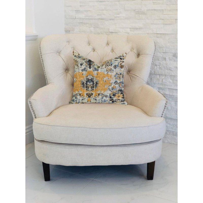 """Plutus Brands Free Spirit Damasque Luxury Throw Pillow 20"""" x 36"""" King (PBRA1325-2036-DP)"""