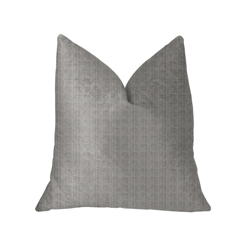"""Plutus Brands Fremont Gray and Silver Luxury Throw Pillow 22"""" x 22"""" (PBKR1947-2222-DP)"""