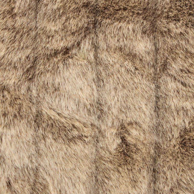 "Plutus Brands Frost Mink Light Brown Faux Fur Luxury Throw Blanket 114""L x 120""W King (PBEZ1781-114x120)"