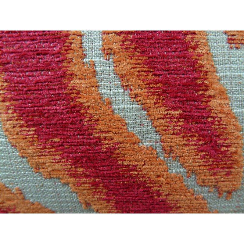"Plutus Brands Fuchsia Fire Fuchsia Orange and Taupe Handmade Luxury Pillow 26"" x 26"" (PBRAZ061-2626-DP)"