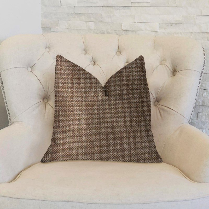 "Plutus Brands Ganache Gold Luxury Throw Pillow 26"" x 26"" (PBKR1983-2626-DP)"