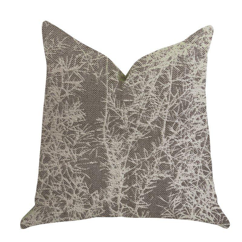 "Plutus Brands Garden Breeze Luxury Throw Pillow in Gray and Beige Colors Pillows 22"" x 22"" (PBRA1390-2222-DP)"
